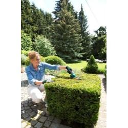 """Bosch Sculpte-haies sans fil Isio Set avec lame Multi-Click  """"sculpte-haies,"""" lame Multi-Click """"taille-herbe"""" et chargeur 060083"""