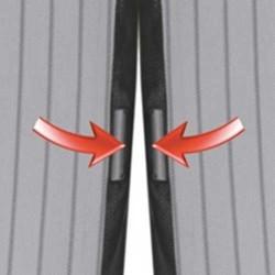 Rideau Moustiquaire - Fermeture Aimantée - 220 cm - 2 X 50 cm