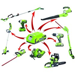 Greenworks Tools set 2100007 -a Coupe-bordure sans fil 24 V Lithium-ion
