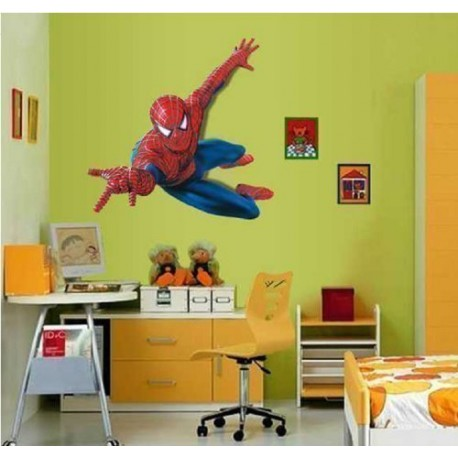 Hero spiderman grand sticker mural spiderman pour chambre for Sono pour chambre