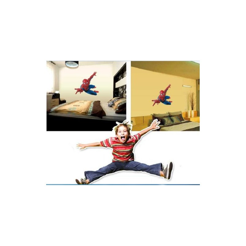 hero spiderman grand sticker mural spiderman pour chambre d 39 enfant central achat. Black Bedroom Furniture Sets. Home Design Ideas