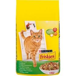 FRISKIES Lapin, Poulet, Légumes ajoutés - 7,5 KG - Croquettes pour chat adulte