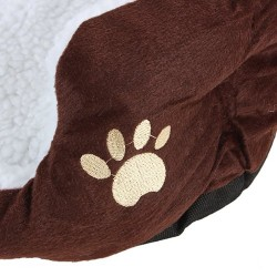 PANIER CORBEILLE NICHE COUSSIN MATELAS LIT CHIEN CHAT ANIMAUX 46*42*15cm petite Taille Coffee