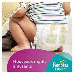 Pampers Active Fit Couches Pack Economique 1 Mois de Consommation x 168 Couches Taille 4( 7-18 kg)