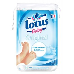 Lotus Baby Original Maxi Cotons Carrés Bi-Faces 70 Cotons - Lot de 10