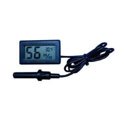 Thermomètre Hygromètre Digital pour Reptiles Noir