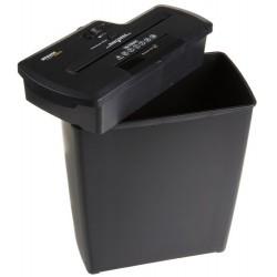 AmazonBasics Destructeur de documents 7 à 8 feuilles coupe droite avec destructeur de CD Noir