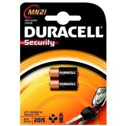 DURACELL Pile alarme et télécommande MN21, blister de 2