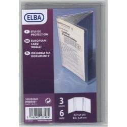 Elba, 1 étui 3 volets/6 faces pour carte grise 83x127mm en PVC 30/100e