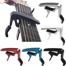 SAVFY® Capo de Guitare / capodastre capo pour guitare electrique acoustique guitar - Noir