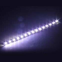 4 X Bande Eclairage Flexible Lampe 15 SMD LEDs 30cm 12V Etanche Blanc
