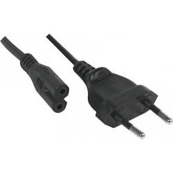 Cordon électrique secteur bipolaire noir 3 m