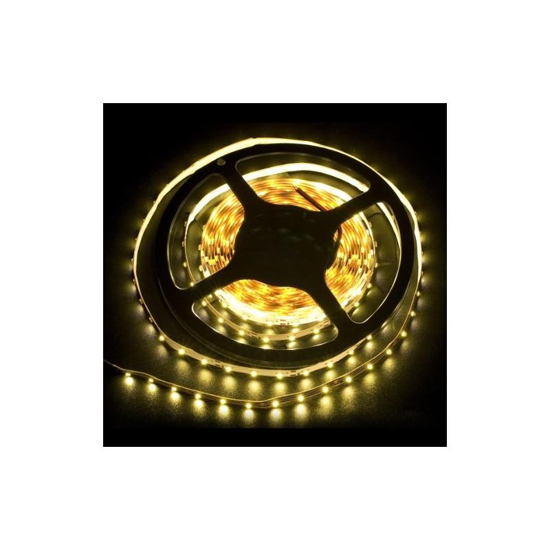 ruban lumineux de 5m avec 300 led smd 3528 blanc chaud bande adh sive alimentation 12v clairage. Black Bedroom Furniture Sets. Home Design Ideas