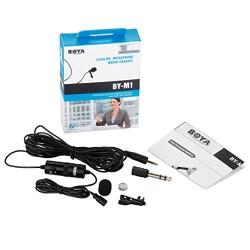 BOYA® Micro-cravate omnidirectionnel Audio enregistrement microphone à condensateur avec 6m câble-Noir- Microphone à condensateu