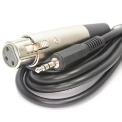 3,5 mm Stéréo Jack PC Ordinateurs Portable Vers XLR Femelle Table de mixage Parleur câble 2 m