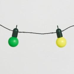 Guirlande Lumineuse Guinguette avec 20 Boules LED Multicolores pour Intérieur / Extérieur de Lights4fun