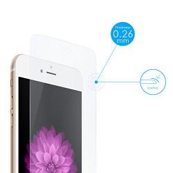 Aukey® iPhone 6 Film Protection d'écran en Verre Trempé 0,26mm INRAYABLE et ULTRA RÉSISTANT INDICE Dureté 9H Haute transparence