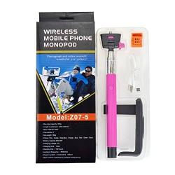 Ckeyin ® Perche Selfie Stick Noire Télescopique avec Support Réglable et Télécommande pour Mobile Apple iPhone 3G, 4, 4S, 5, 5S,