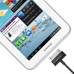 Samsung - Câble USB Charge + Transfert pour Tablette d'Origine Samsung - Modèle ECC1DP0U Noir