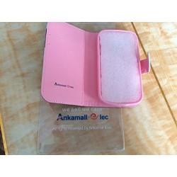 Cuir Coque Strass Case Etui Coque étui de portefeuille protection Coque Case Cas Cuir Swag Pour Samsung Galaxy S4 Mini i9190 (No