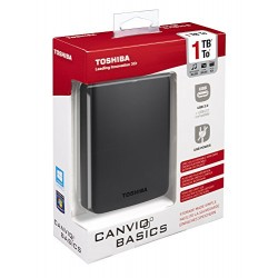 Toshiba Canvio Basics Disque dur externe portable 1 To USB 3.0 / USB 2.0