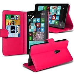 Chaud (rose) Nokia Lumia 830 imitation crédit / carte de débit en cuir Style Etui Housse Coque en Cuir Portefeuille couvrir& pro