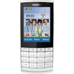"""Nokia X3-02i téléphone mobile - Ecran 6,1 cm -2,4 pouces - Appareil photo 5 mégapixels """"Touch and Type""""- Blanc / Argent"""