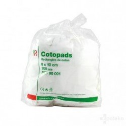 COTOPADS RECTANGLE COTON 8CM X 10CM 200