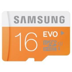 Samsung 16 Go Carte Mémoire EVO Micro SD Classe 10 sans adaptateur MB-MP16D/EU