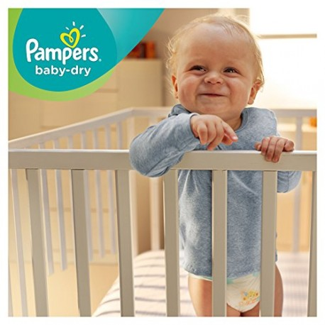 Pampers - Baby Dry - Couches Taille 4+ Maxi+ (9-20 kg) - Pack économique 1 mois de consommation x152 couches