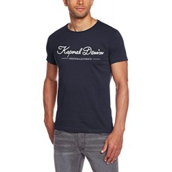 Kaporal Oubly - T-shirt - Uni - Manches courtes - Homme - Bleu (Navy) - Medium (Taille fabricant: M)