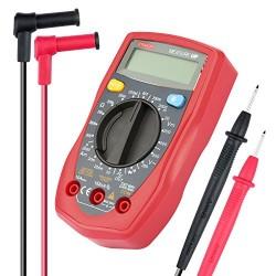 Etekcity® Multimètre Numérique Portable de Haute Qualité avec Ecran LCD Rétroéclairé et Cordon de Test Optimisé Testeur de Volta