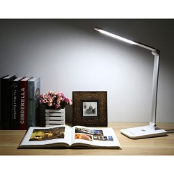 LE 8W Dimmable LED lampe de bureau, 7 le niveau de luminosité, Sensitive Touch Control, Pliantes Lampes de Table, Lampe, Lampes