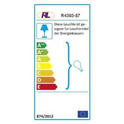 Reality Leuchten R4393-87 Lampadaire/liseuse 1x E27 + 1x E14 Argent/vasques blanches