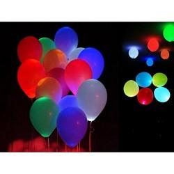 Lot de 50 Ballons LED Anniversaire Mariage Bapteme Lumineux COULEUR