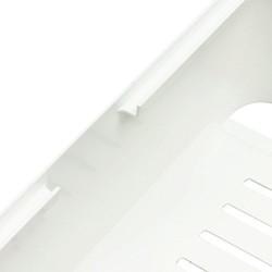 Allibert 220045 E-Box Boîte de Rangement Carrée pour Câbles Polypropylène Blanc/Gris 19,5 x 19,39 x 12,6 cm
