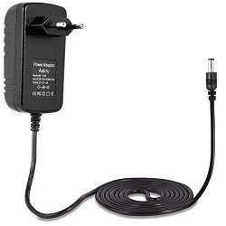 Aukru® Bloc d'alimentation adaptateur secteur 12V 2A 24W avec cordon d'alimentation prise UE pour ordinateur portable, imprimant
