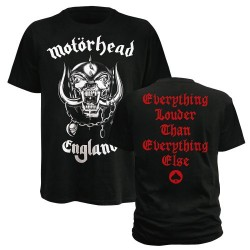 T-Shirt Motorhead Noir England XL (T-Shirt taille Extra Large)