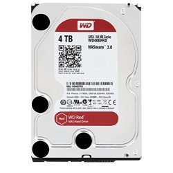 "WD Red 3.5"" Disque dur interne pour NAS 1 à 5 baies 4 To intellipower 64 Mo SATA 6Gb/s (WD40EFRX - bulk)"