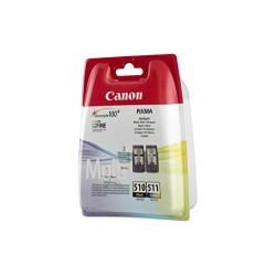 Canon 2970B010AA Cartouche d'encre PG-510 & CL-511 Chromalife 100+ 9mlx2 Noir/3 Couleur