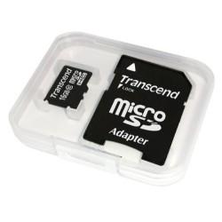 Transcend 16 Go Carte mémoire microSDHC Classe 10 avec adaptateur TS16GUSDHC10E [Emballage « Déballer sans s'énerver par Amazon