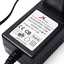 Bloc d'alimentation adaptateur secteur 100-240V vers 12V 2A 24W avec cordon d'alimentation prise UE pour ruban à LED LD137