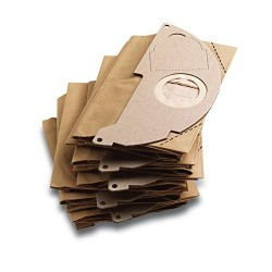Karcher - Sachet filtre papier (x5) pour aspirateurs eau et poussieres - compatibible avec: de A2000 jusqu'a A2099 et WD2.000 ju